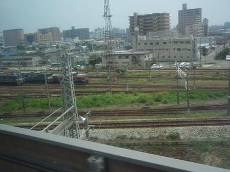 新幹線の車窓(岡山界隈)