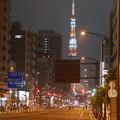 写真: 三田通り