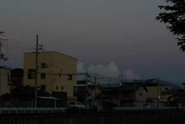 蒼い入道雲