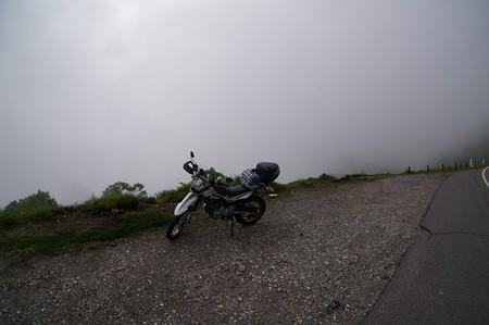 霧が峰で霧で見えない