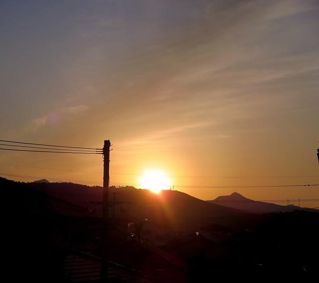 写真: 日落つる夕べ!