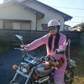 写真: バイクとヘルメットとアタシ
