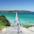 写真: 快晴の日の角島大橋   DSC08808