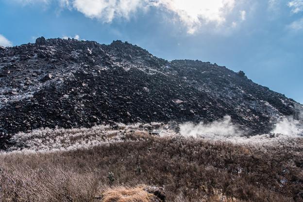 噴気と霧氷