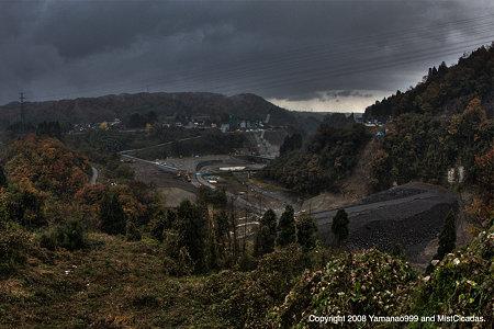 ダム建設風景
