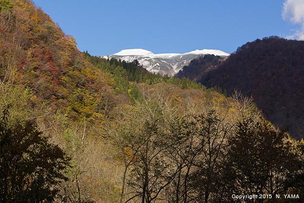白山冠雪風景
