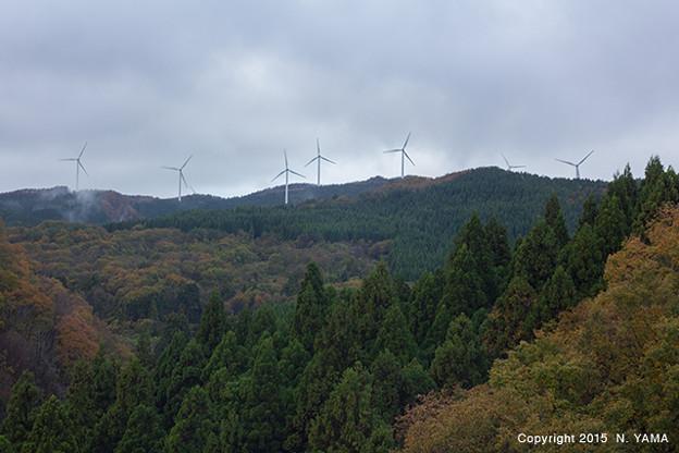 風力発電風景
