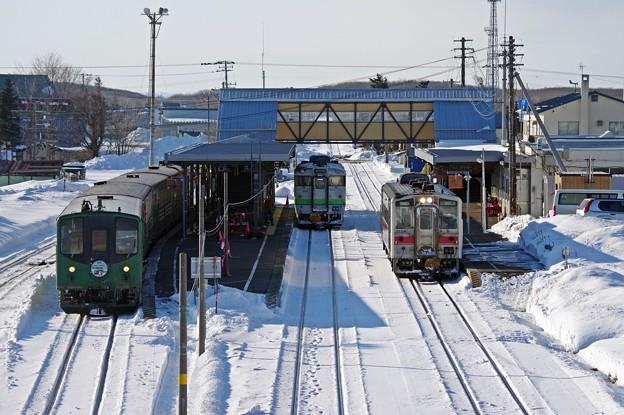 知床斜里駅にて