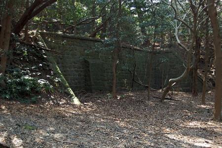 第4砲台跡の石壁