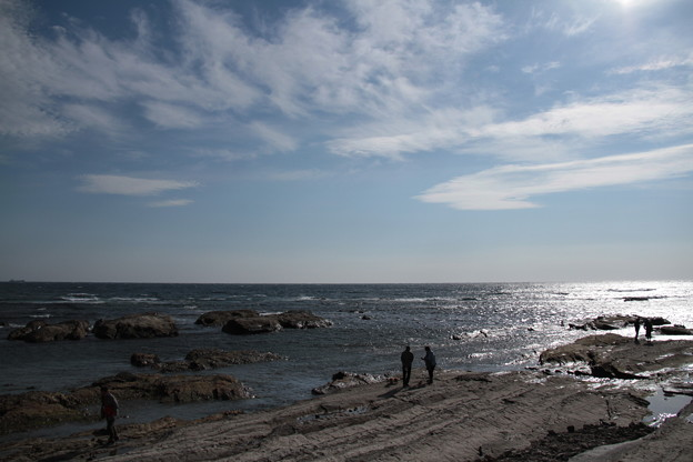 写真: 道の駅ちくら 潮風王国からの荒れる太平洋