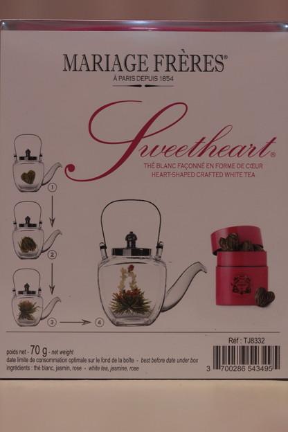 MARIAGE FRERES Sweetheart Tea Heart-Shaped Crafted White Tea 開き方見本