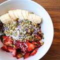 Photos: get my grub on!「Acai Bowl/Acai&Japanese Mustard Spinach&banana&yoghurt」ONOLICIOUS!