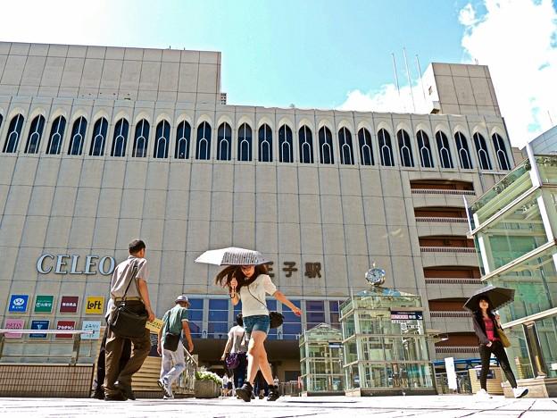 真夏日の八王子駅