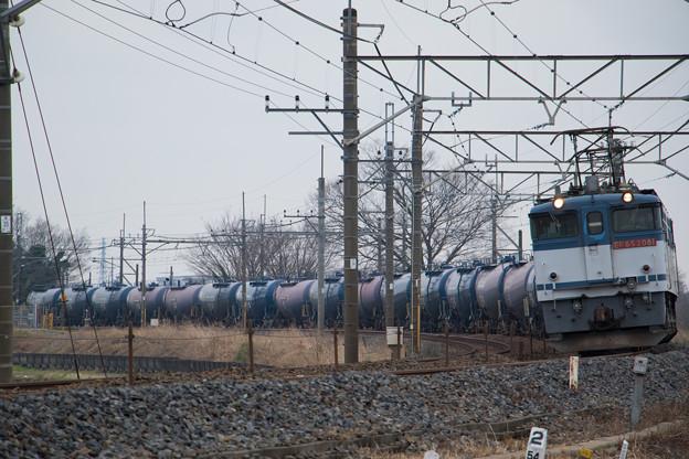 EF65 2081+タキ@ワシクリ水沢踏切
