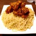 写真: 琉球チルダイ カラカラつけめん 麺アップ