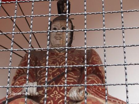 新日吉神宮の随身さん 随神さん 吽形 PB010195