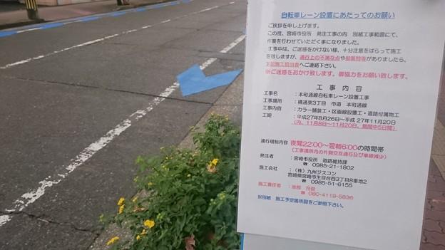 Photos: 宮崎市、新たに中心市街地に自転車レーンを整備中1