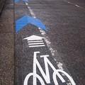 写真: 宮崎市、新たに中心市街地に自転車レーンを整備中4