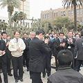 写真: 河野俊嗣新知事就任の日1