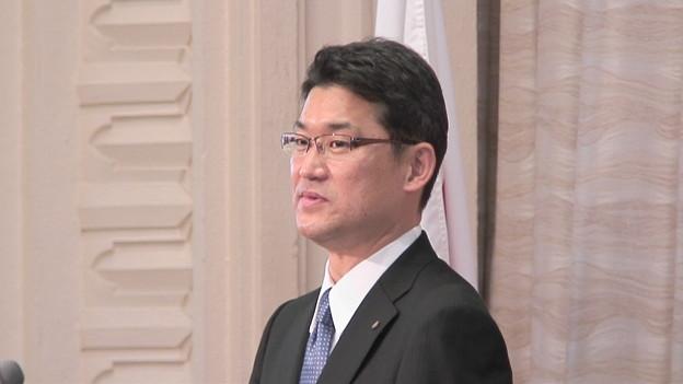 写真: 河野俊嗣新知事就任の日7