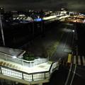 写真: 藤代駅 夜景
