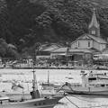 漁港の教会