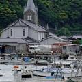 教会のある漁港