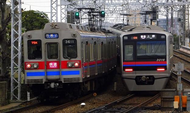 快速A01西馬込(774K)3600形3618F&普通KS01上野(808レ)3000形3016F