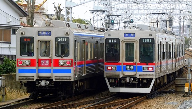 快速A01西馬込(980K)3600形3618F&普通KS01上野(1136レ)3500形3556F-3528F