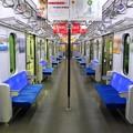 東急田園都市線5000系(6ドア無塗装)車内全景
