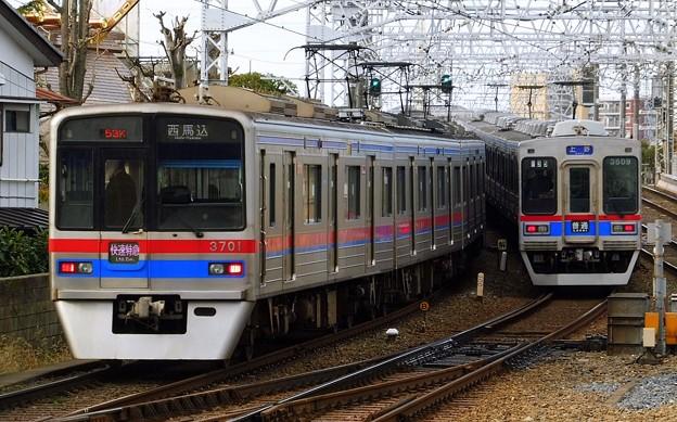 快速特急A01西馬込(852K)3700形3708F