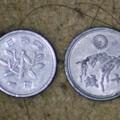 写真: 十銭玉と一円玉
