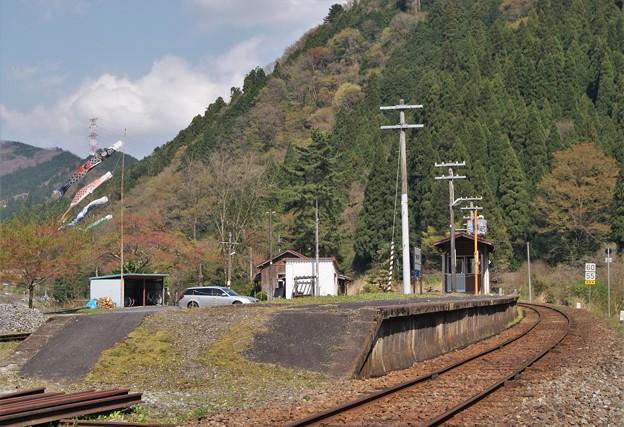 美作河井駅  (1)