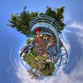 日本平運動公園 すべり台 Little Planet(3) HDR
