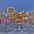 静岡浅間神社 廿日会祭の山車(2015年10月3日 駿府踟勢揃い) 360度パノラマ写真 HDR
