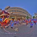 静岡浅間神社 廿日会祭の山車 「神武車」(2015年10月3日 駿府踟勢揃い) 360度パノラマ写真 HDR