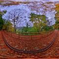 井川湖畔遊歩道(廃線小路) 紅葉 360度パノラマ写真(1) HDR