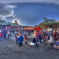 Photos: 「毘沙門天大祭の日」 富士市吉原 香久山妙法寺 360度パノラマ写真(1) HDR