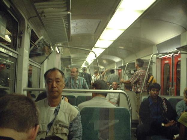 フランクフルトの電車内