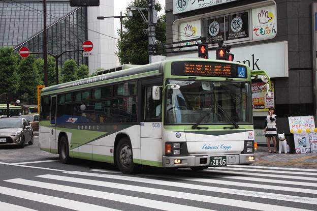 国際興業バス いすゞ・エルガ 5038号車
