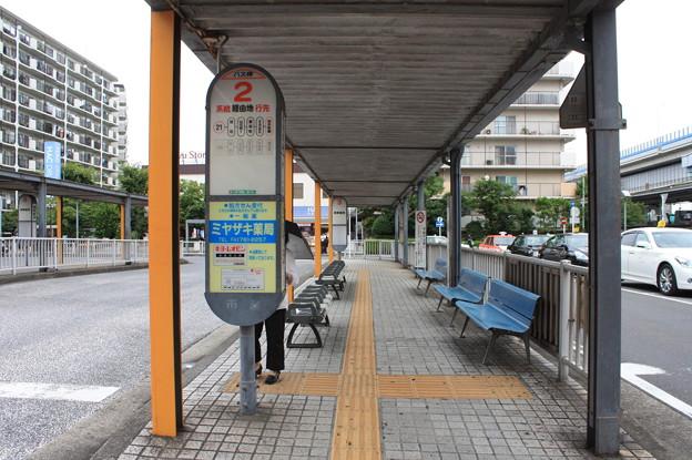 根岸駅バス停留所 2番のりば