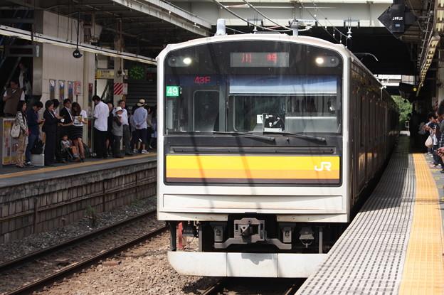 南武線 205系1200番台ナハ49編成 各駅停車川崎行