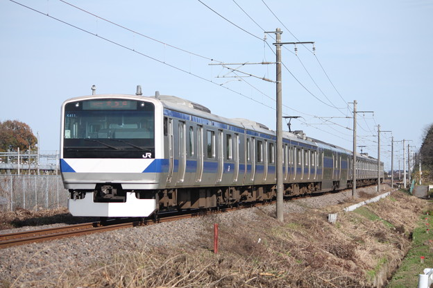 常磐線 E531系K411編成 394M 普通上野行