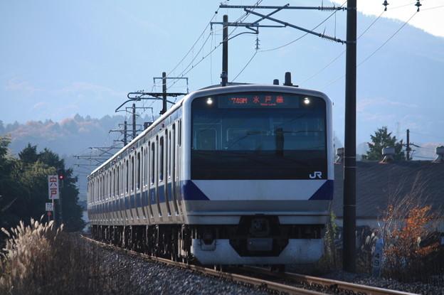 水戸線 E531系K467編成 749M 普通友部行