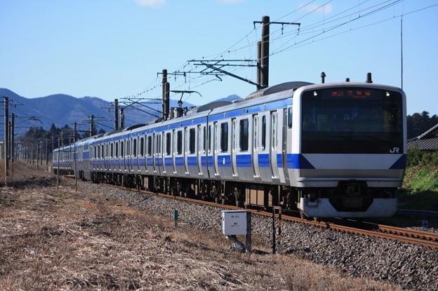 常磐線 E531系K421編成 351M 普通勝田行