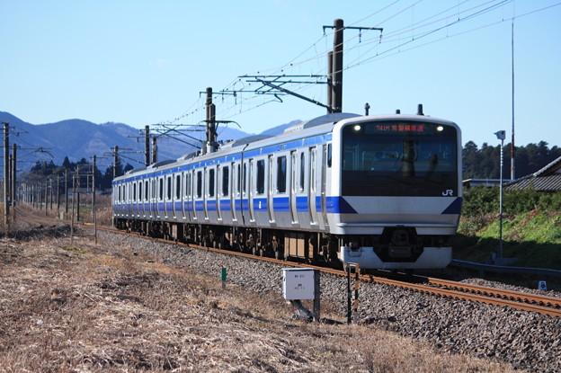 常磐線 E531系K470編成 741M 普通勝田行