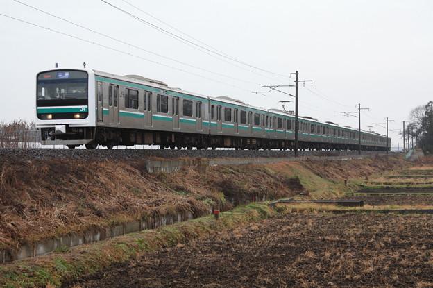 常磐線 E501系K701編成 534M 普通土浦行