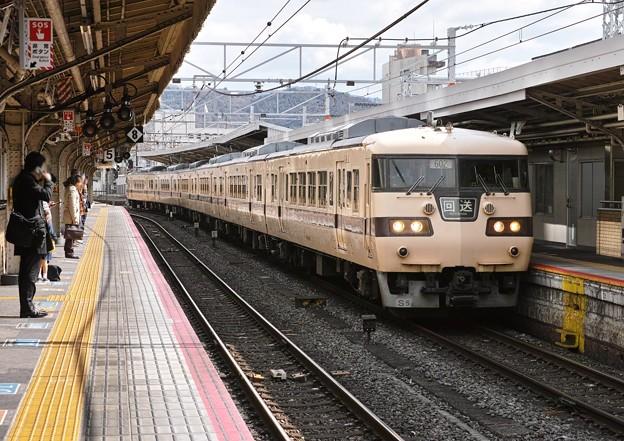 01.湖西線1819M 117系原色車 京都駅6番線入線