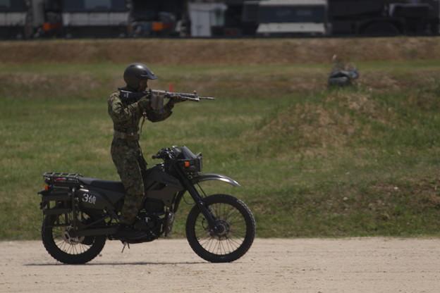 陸上自衛隊 大久保駐屯地 偵察用オートバイ