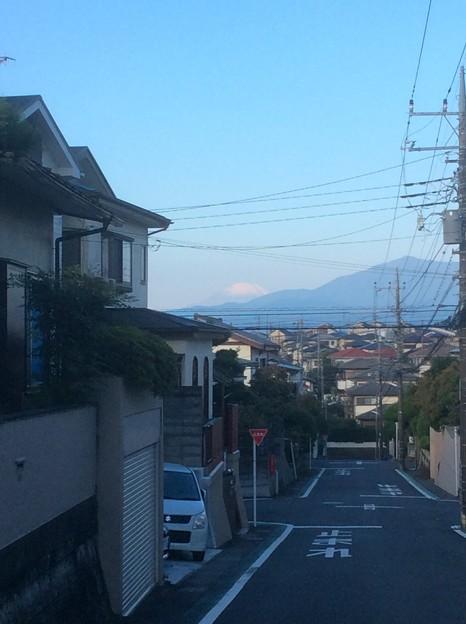 海老名市国分寺台から見える富士山